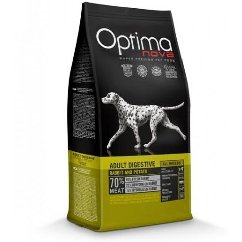 OptimaNova Digestive Adult Conejo y Patata Grain Free (Visan)