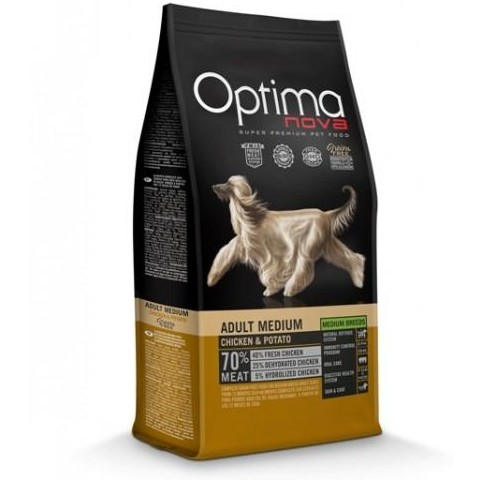 OptimaNova Adult Medium Pollo y Patata Grain Free (Visan)