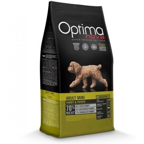 OptimaNova Digestive Adult Mini Conejo y Patata Grain Free (Visan)