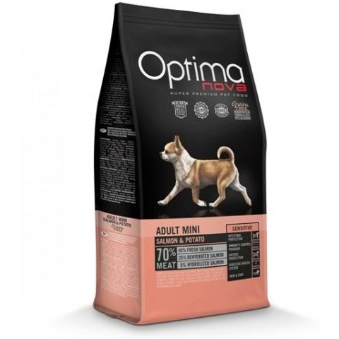 OptimaNova Sensitive Adult Mini Salmón y Patata Grain Free (Visan)