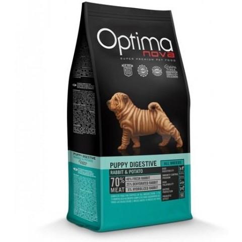 OptimaNova Digestive Puppy Conejo y Patata Grain Free (Visan)