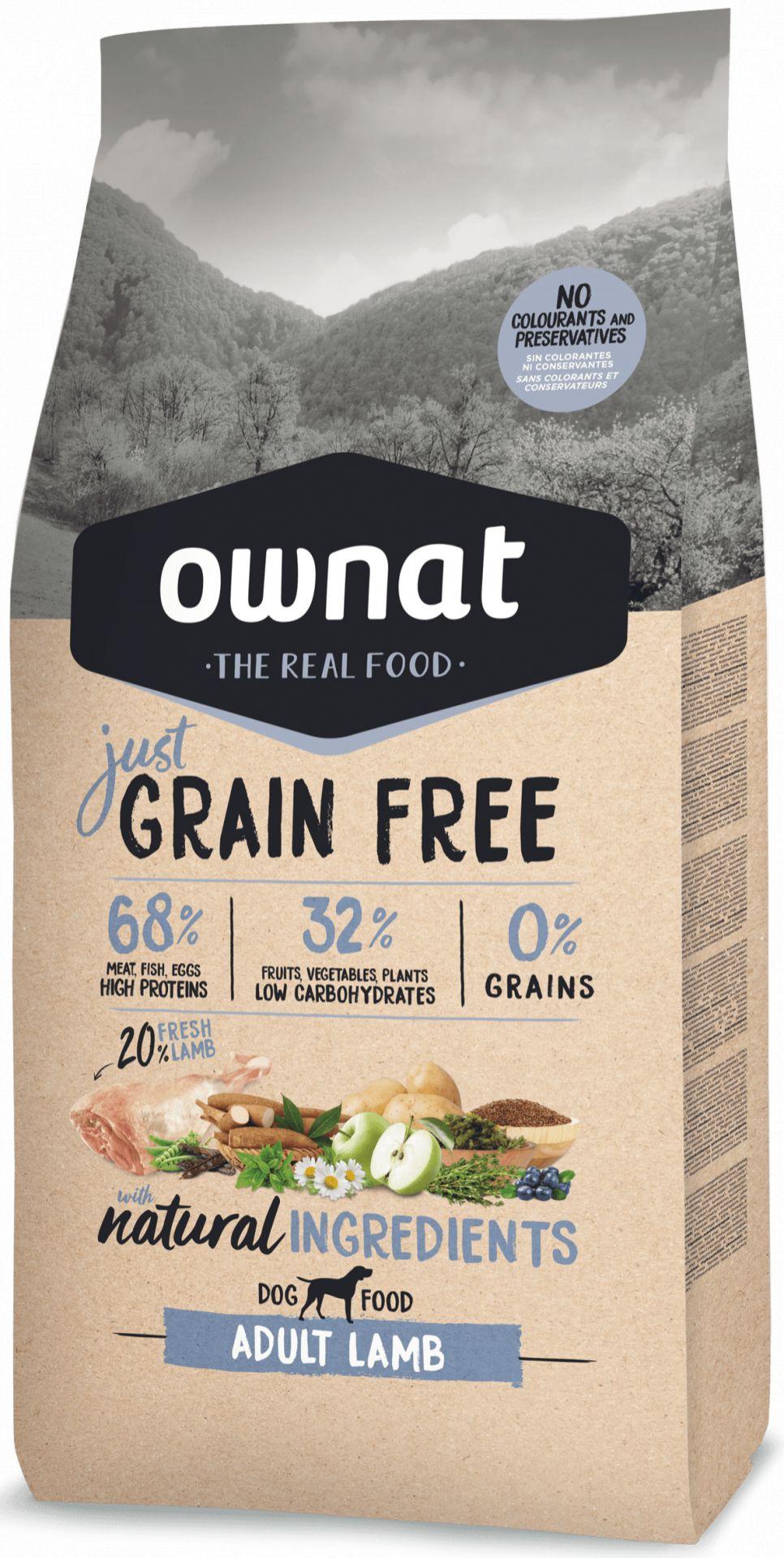 Ownat Just Grain Free Adult Cordero para Perro