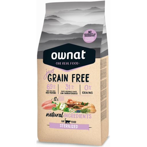 Ownat Just Grain Free Sterilized para Gato