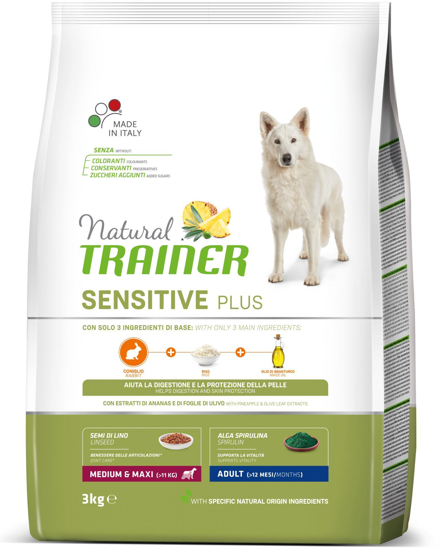 Trainer Sensitive Plus Conejo Adult Medium Maxi