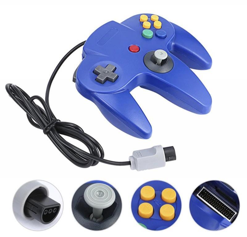 Mando para Nintendo 64 N64 Joystick - Gris Rojo Azul Negro