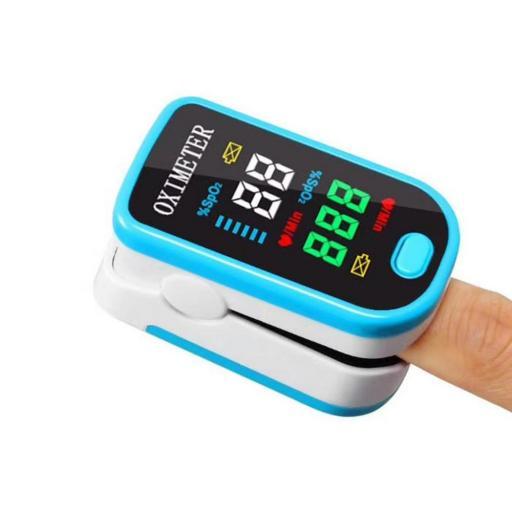 Oximetro Y Pulsómetro De Dedo - Frecuencia Cardíaca Led Oxígeno [1]