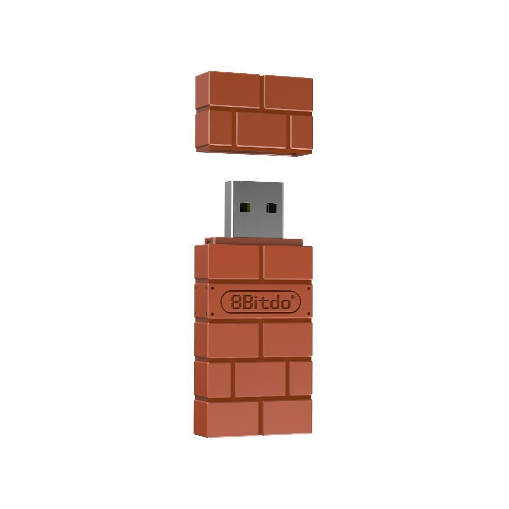 Adaptador 8BitDo Receptor USB Windows, Nintendo, PS4, Xbox, Mac