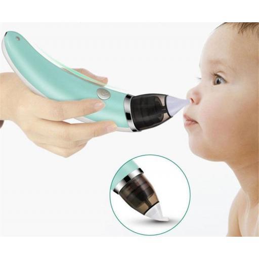 Aspirador nasal de Bebe eléctrico Limpiador de Nariz Infantil
