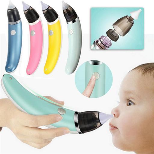 Aspirador nasal de Bebe eléctrico Limpiador de Nariz Infantil [1]