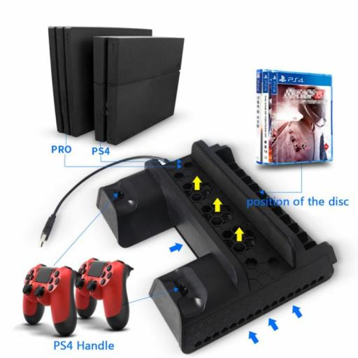 Base de Consola PS4 Multifuncional - PlayStation 4 Fat / Slim / Pro
