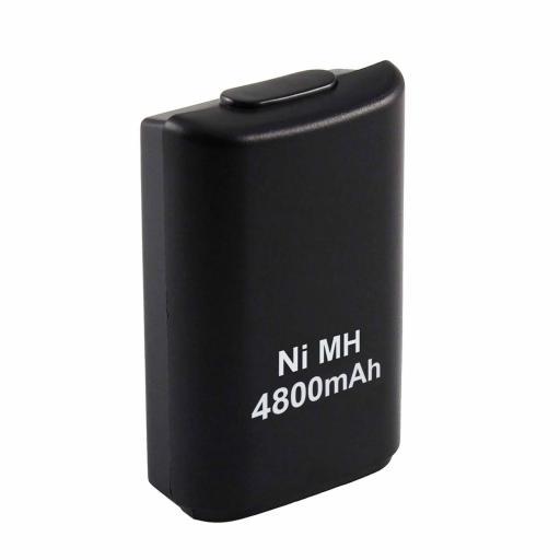 Batería Recargable + Cargador De Mando Xbox 360 4800Mah Compatible [3]