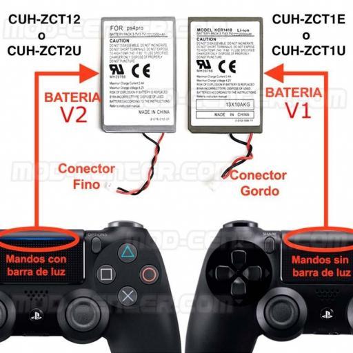 Bateria de Mando PS4 Playstation 4 3.7V 2000Mah + Cable de Carga [3]