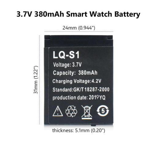 Batería de SmartWatch DZ09 | pila de reloj inteligente LQ-S1 [1]