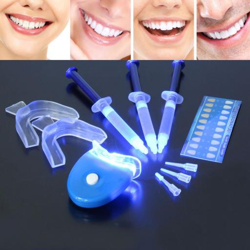 Blanqueador De Dientes Peróxido Oral Bucal Led + Gel Kit Completo