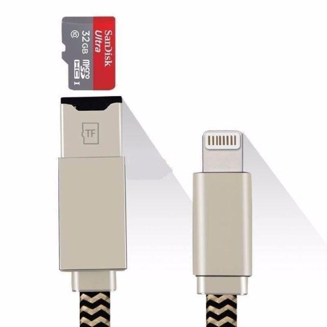 Cable Adaptador Lector de Tarjetas Para Iphone / Ipad