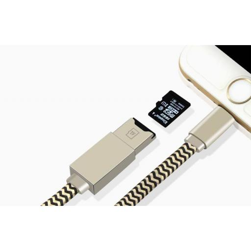 Cable Adaptador Lector de Tarjetas Para Iphone / Ipad [1]