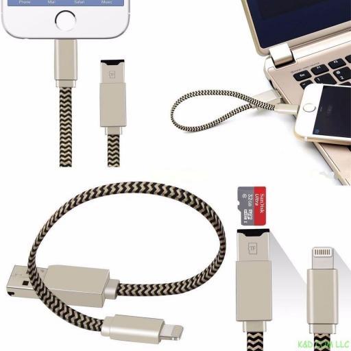 Cable Adaptador Lector de Tarjetas Para Iphone / Ipad [2]