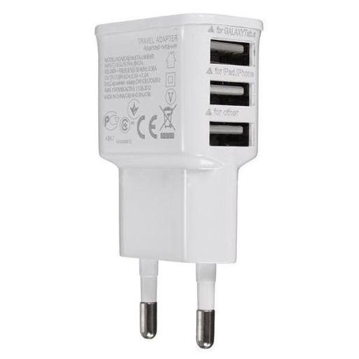 Cargador De Pared 3 Puertos Usb Enchufe 2A Casa Triple [1]