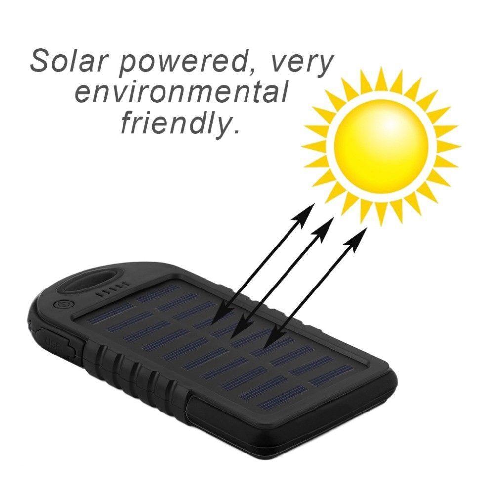Cargador Solar Externo Portatil Power Bank - Doble USB Bateria