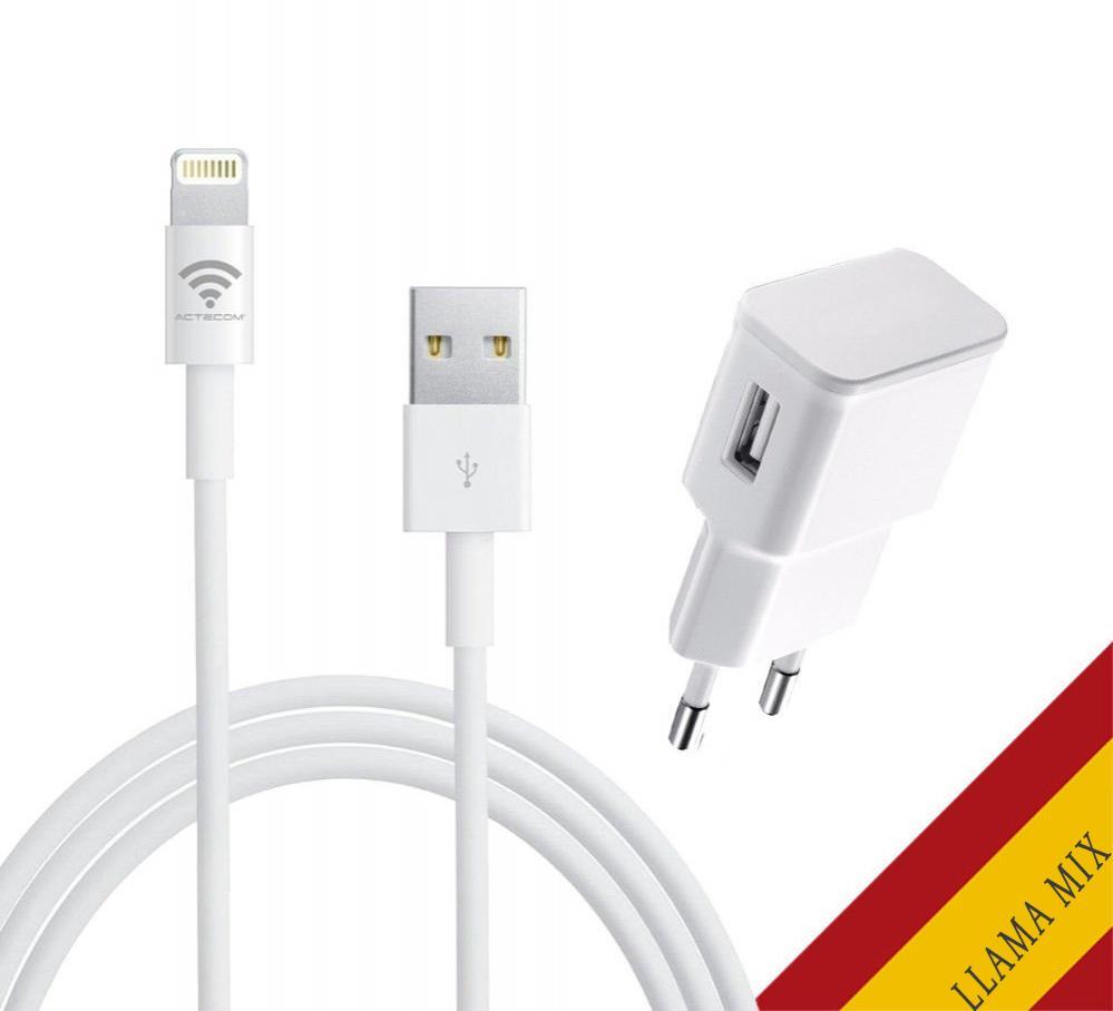 Cargador de Iphone 6 / 7 / 8 / Plus / X / ios10 1.5A + Cable