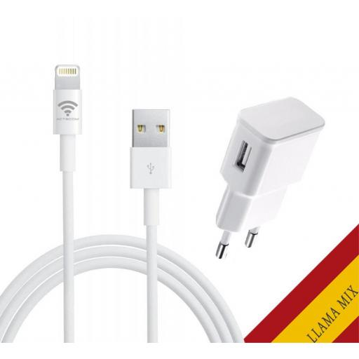 Cargador de Iphone 6 / 7 / 8 / Plus / X / ios10 1.5A + Cable