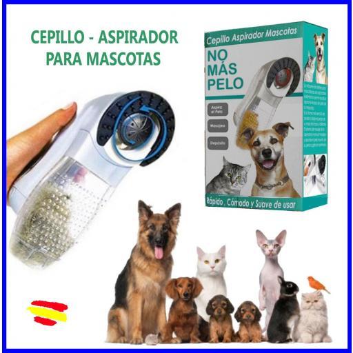 Cepillo Aspirador De Pelos Para Perros Gatos Mascotas