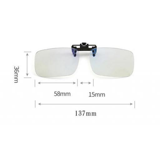 Clip Gafas anti Luz Azul | Filtro bloqueo ordenador [2]