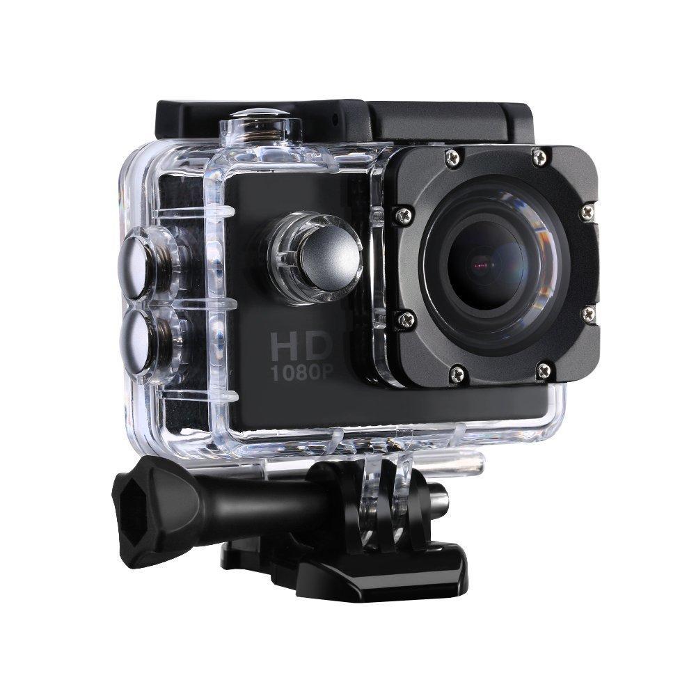 Cámara Deportiva Acción Resistente al Agua FULL HD 1080P LCD