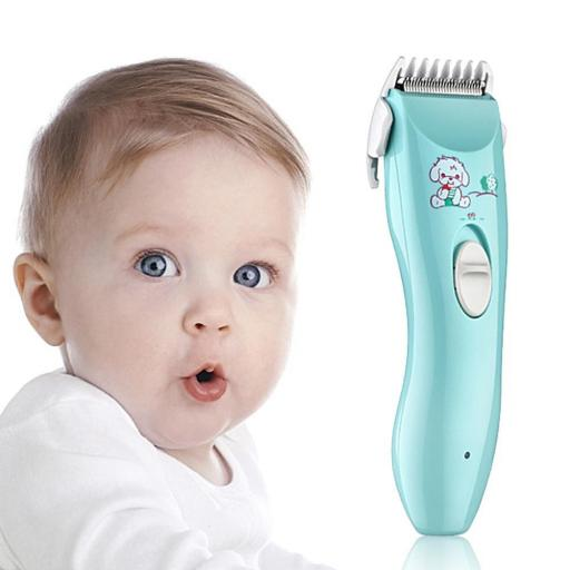 Cortapelos para bebés eléctrico silencioso resistente al agua