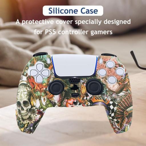 Funda mando PlayStation 5 PS5 | calaveras artesanales [1]
