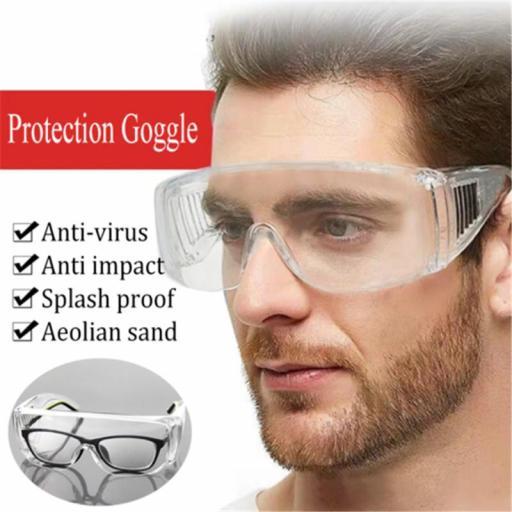 Gafas AntiVirus de Seguridad Transparentes Protección e Ojos