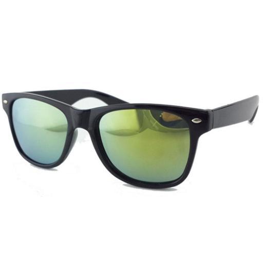 Gafas Estilo Espejo Verde Oro de Sol Para para Hombres y Mujeres
