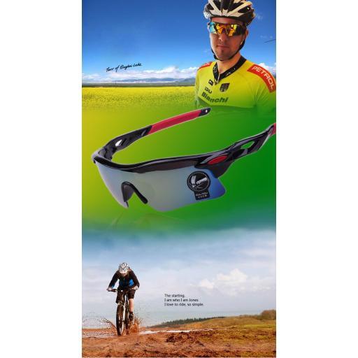 Gafas Grandes Negras de Ciclismo Running Montaña Protector [1]