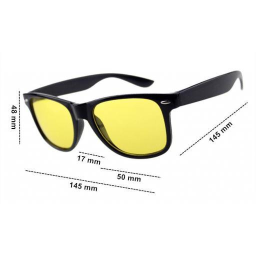 Gafas Negras Visión Nocturna de Lentes Amarillas Conducir de Noche [1]
