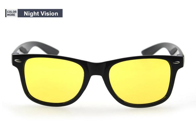 Gafas Negras Visión Nocturna de Lentes Amarillas Conducir de Noche