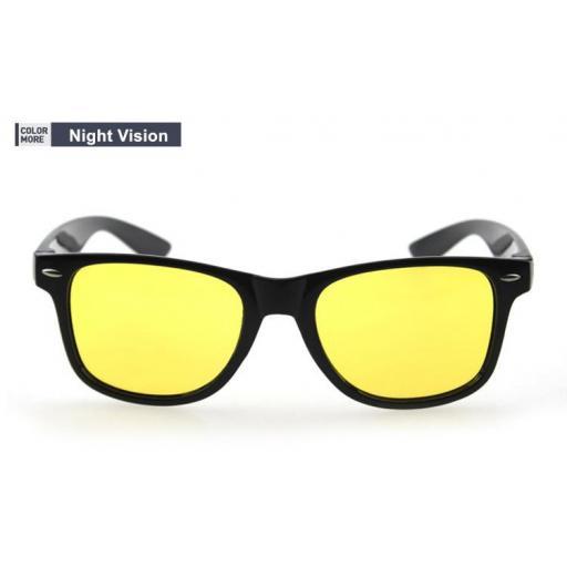 Gafas Negras Visión Nocturna de Lentes Amarillas Conducir de Noche [0]