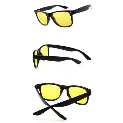 Gafas Negras Visión Nocturna de Lentes Amarillas Conducir de Noche [2]