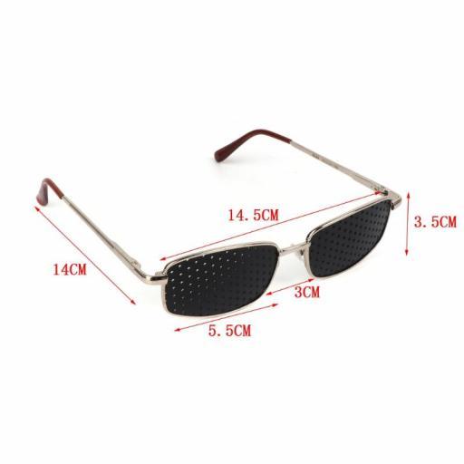 Gafas Reticulares Estenopeicas de Metal - Anti Presbicia Miopía [2]