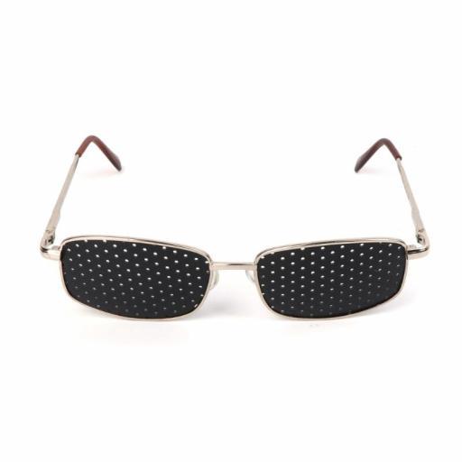 Gafas Reticulares Estenopeicas de Metal - Anti Presbicia Miopía