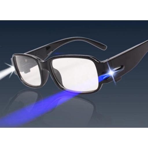 Gafas de Lectura con Linterna LED / UV Aumento de +1,00 y Más