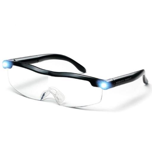 "Gafas lupa con luz led ""New 160% Mighty"""