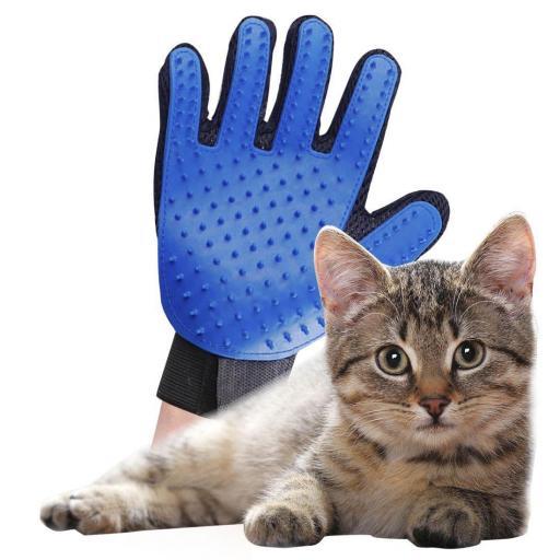 Guante Cepillo De Perro Gato para Peine en Mascotas Baño [0]