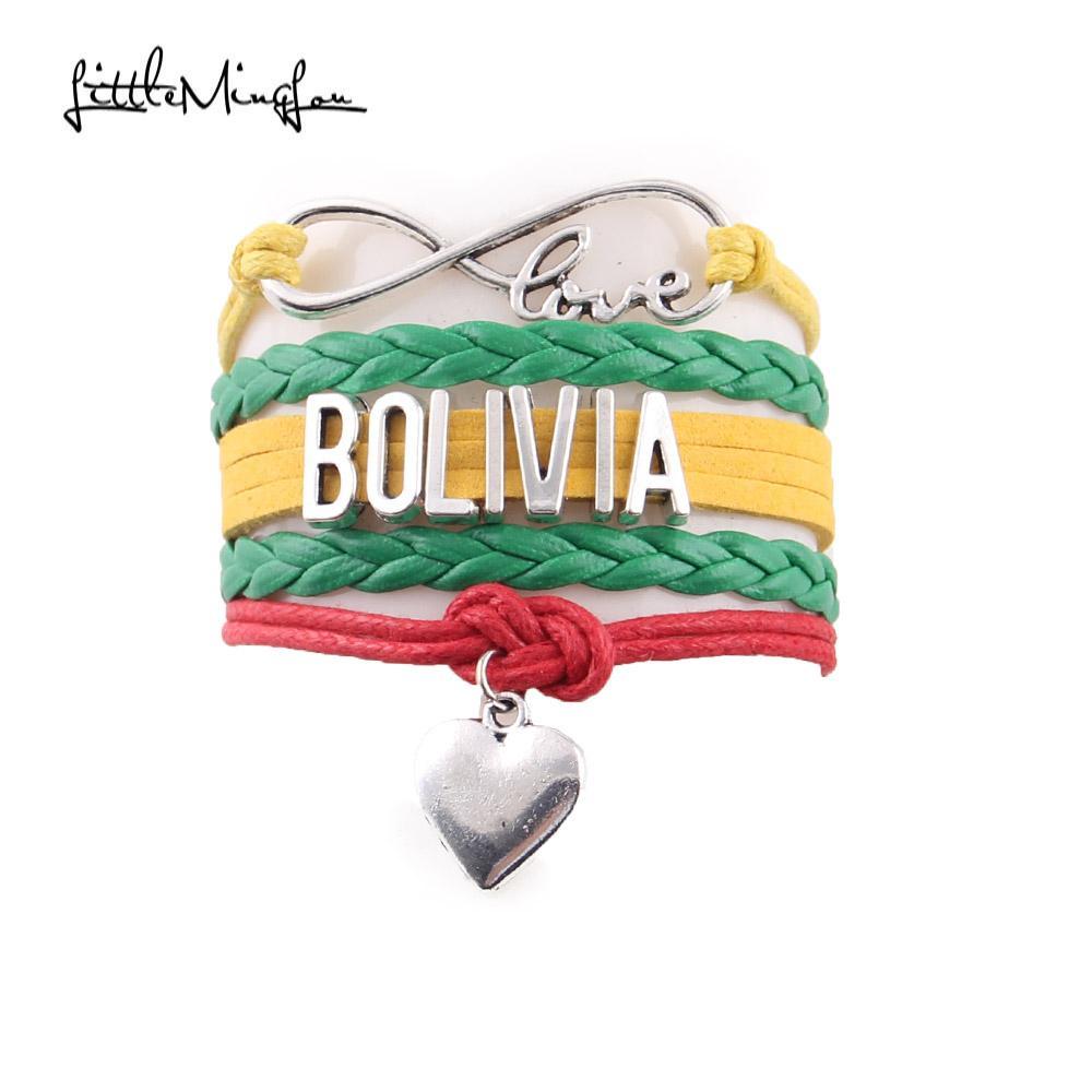 Pulsera de Bolivia Love Corazón Cuerda Hombre y Mujer