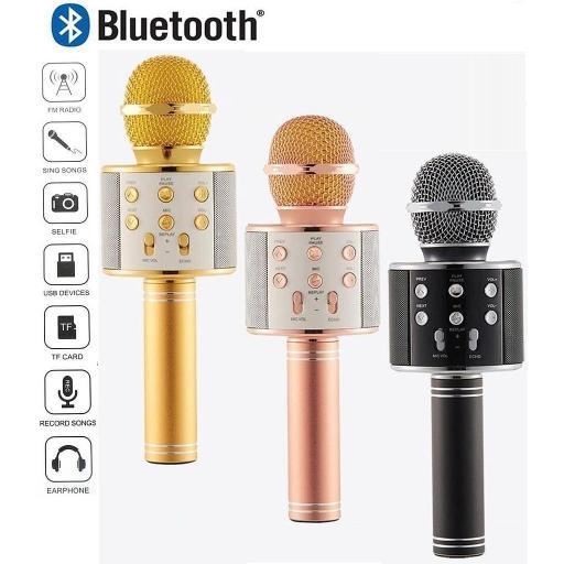 Karaoke Bluetooth Inalámbrico con Altavoz WS 858 Mic [2]