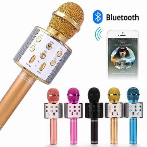 Karaoke Bluetooth Inalámbrico con Altavoz WS 858 Mic [1]