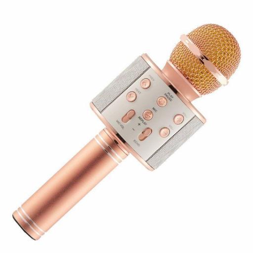 Karaoke Bluetooth Inalámbrico con Altavoz WS 858 Mic [3]