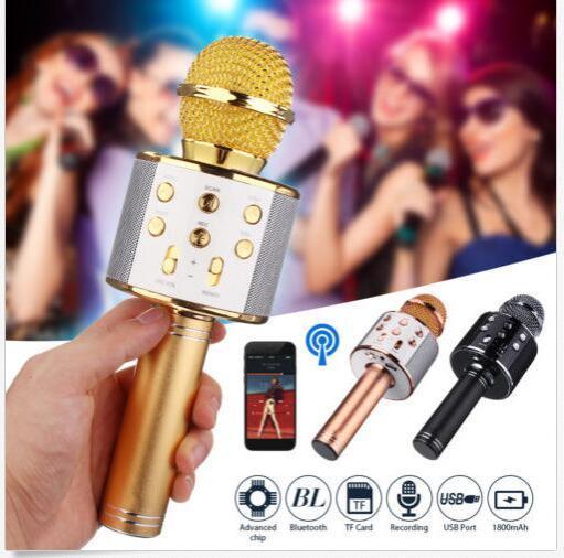 Karaoke Bluetooth Inalámbrico con Altavoz WS 858 Mic