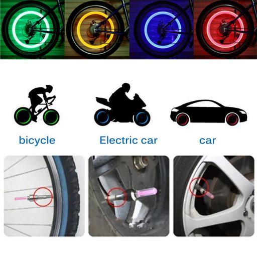 Luces para Ruedas de Bicicleta LED Flash Neumático Ciclismo [2]