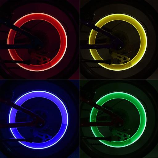 Luces para Ruedas de Bicicleta LED Flash Neumático Ciclismo [1]