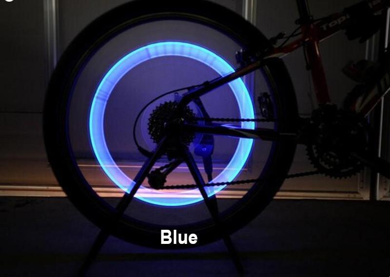 Luces para Ruedas de Bicicleta LED Flash Neumático Ciclismo
